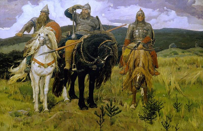 Warrior Knights. Viktor Vasnetsov
