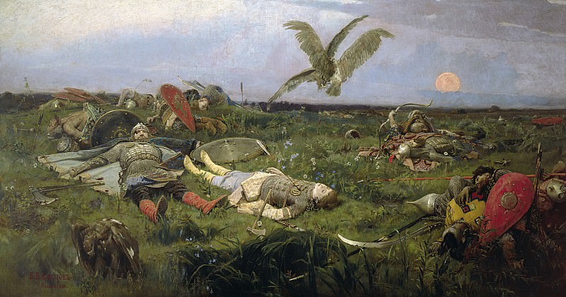After the Battle between Prince Igor Svyatoslavich of Kiev and the Polovtsy. Viktor Vasnetsov