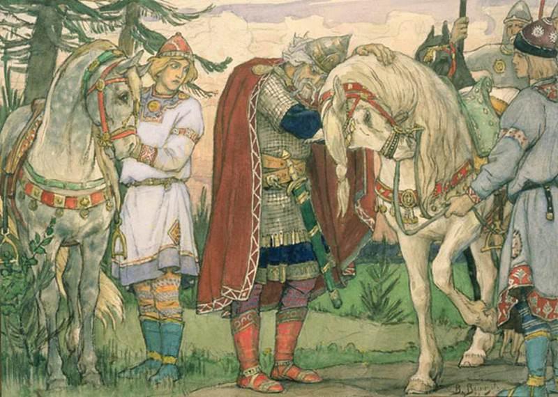 The Song of Prince Oleg (1848-1926). Viktor Vasnetsov