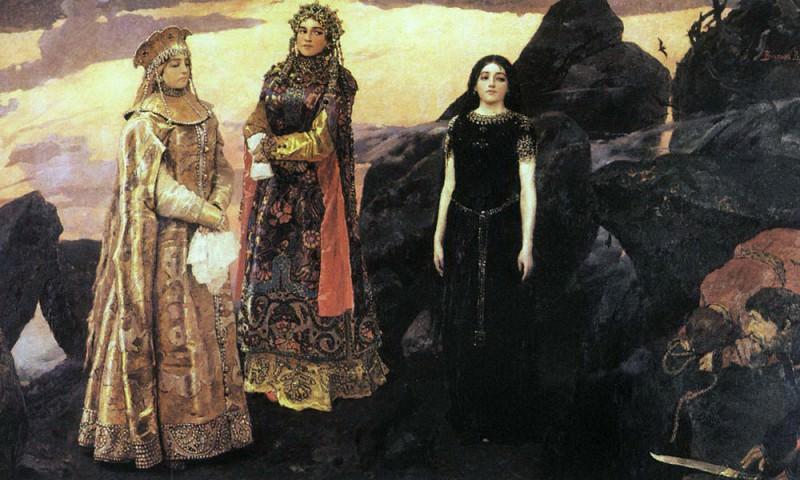 Три царевны подземного царства. Viktor Vasnetsov