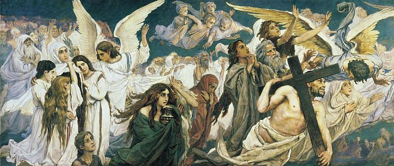 Радость праведных о Господе. Триптих, (левая часть). Viktor Vasnetsov