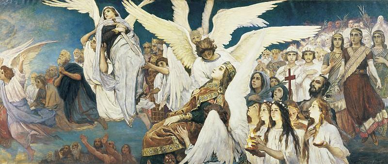Радость праведных о Господе. Триптих, (правая часть). Viktor Vasnetsov