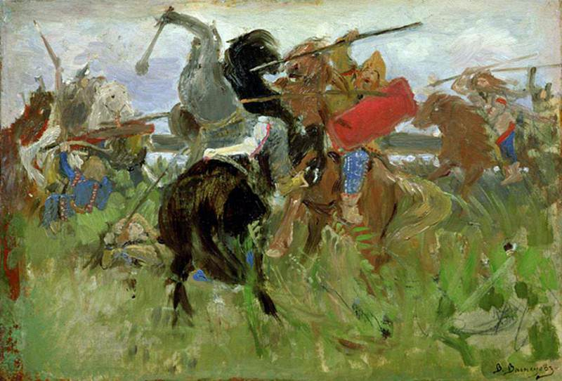 Battle between the Scythians and the Slavonians. Viktor Vasnetsov