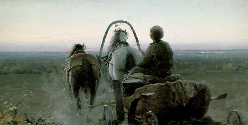 Arkhipov, Abram Efimovich -- The Return Journey, 1896. Abram Arkhipov