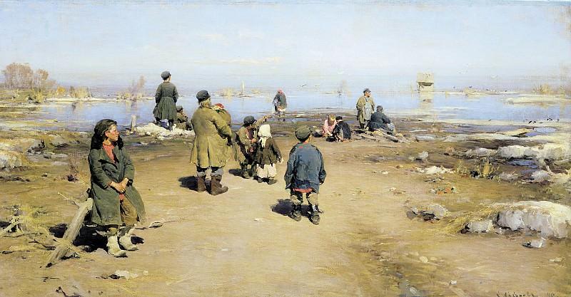 Лед прошел. 1895, холст, масло, 70х136 см. Abram Arkhipov