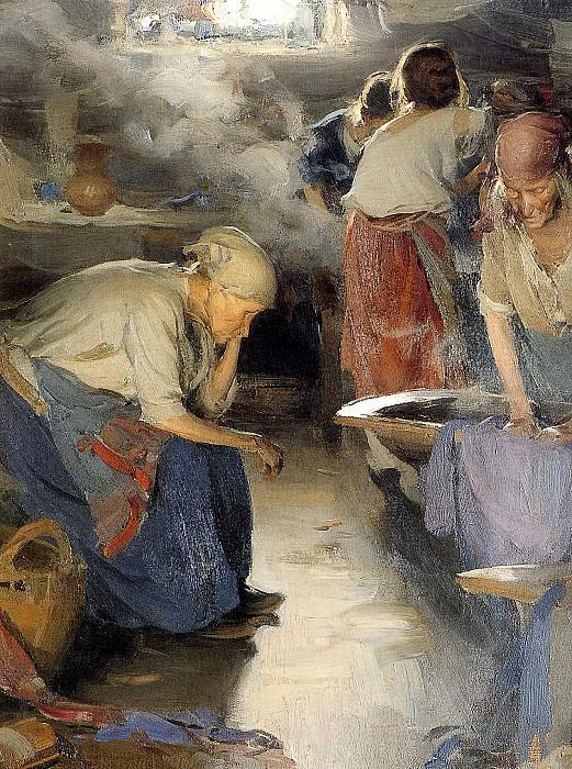 Washers women. Abram Arkhipov