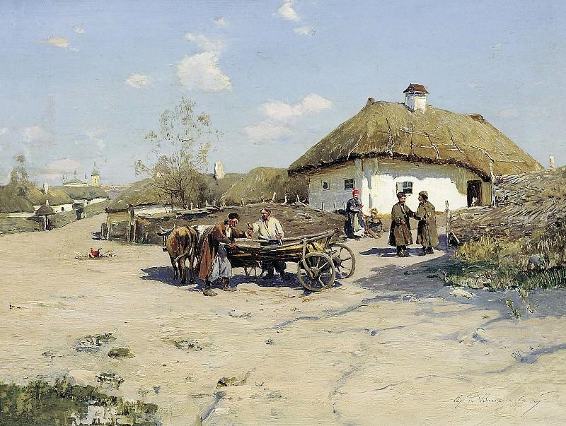 Околица. Холст, масло. Sergey Vasilkovsky