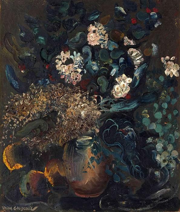 Натюрморт с цветами. Борис Дмитриевич Григорьев