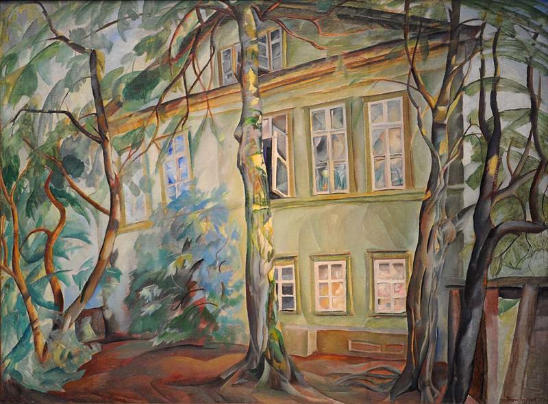 House under the trees. Boris Grigoriev