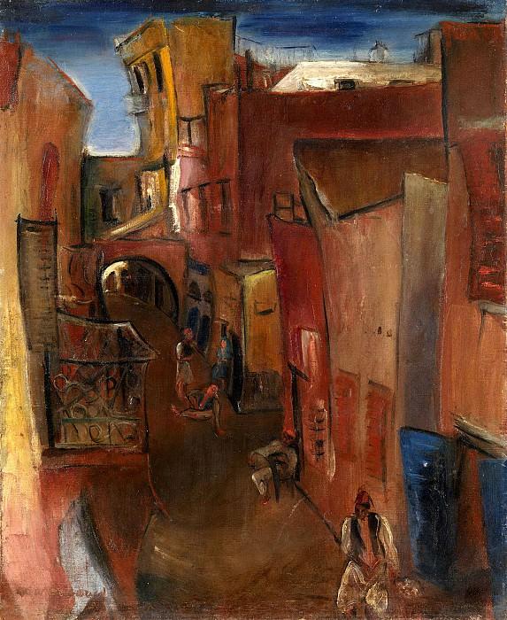 View of a Moroccan street. Boris Grigoriev