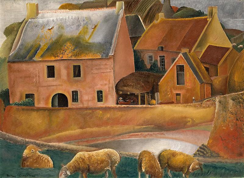 Farm with Lambs. Boris Grigoriev