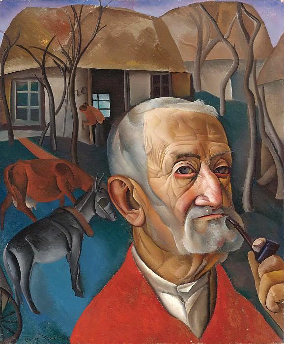 Man with pipe. Boris Grigoriev