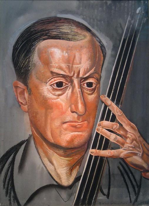 Man with cello. Boris Grigoriev