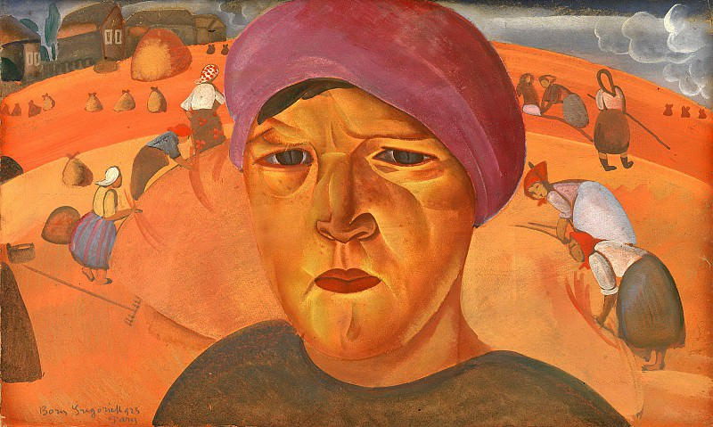 Russian peasant woman. Boris Grigoriev