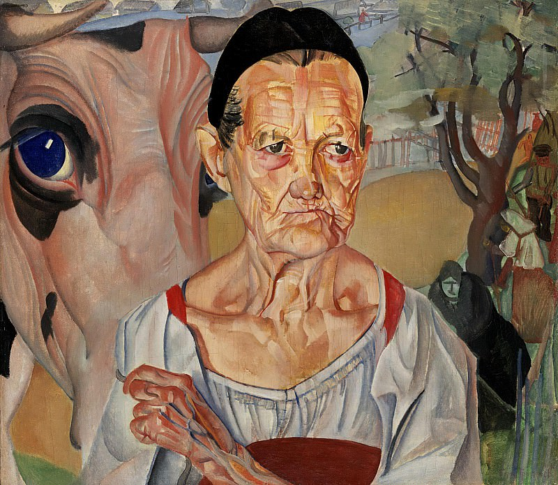 The old woman-thrush. Boris Grigoriev
