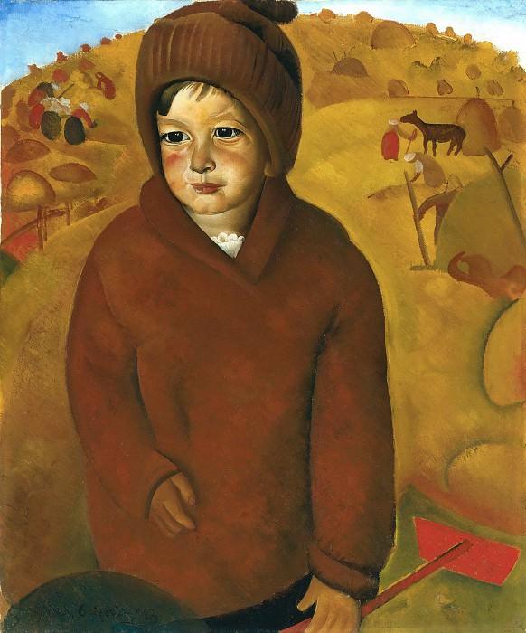 Boy At Harvest Time. Boris Grigoriev