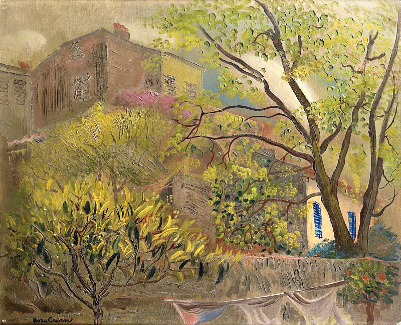 House With A Pink Roof. Boris Grigoriev