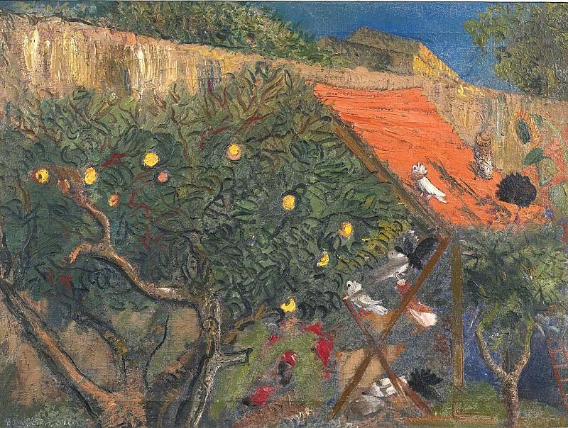 In The Garden. Boris Grigoriev