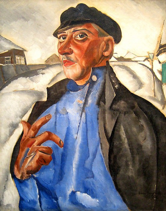 Portrait of Peter Baksheev as Vaska Pepel of Gorky's play The Lower Depths. Boris Grigoriev