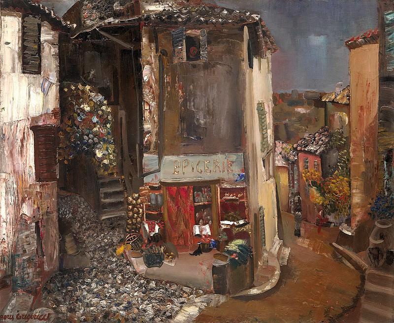 Grocery in the village. Boris Grigoriev