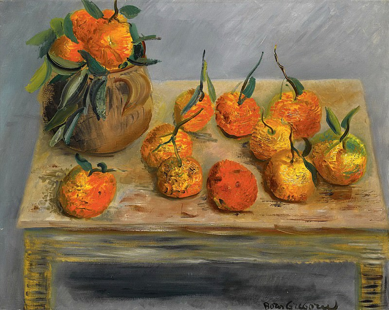 Still life with oranges. Boris Grigoriev
