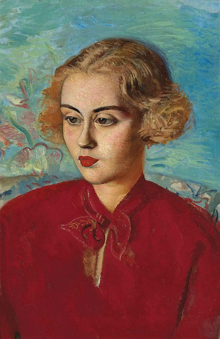 Woman in red. Boris Grigoriev