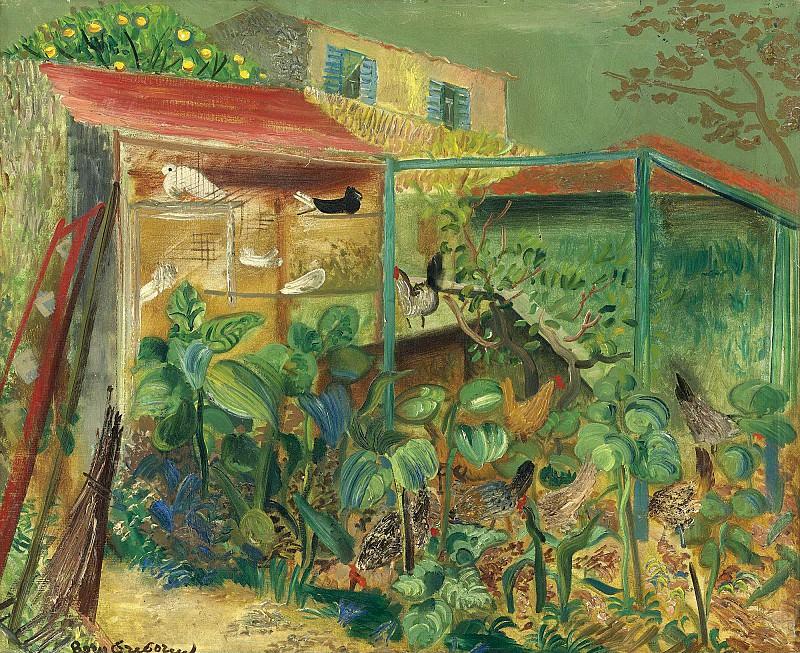 The scene on the farm. Boris Grigoriev