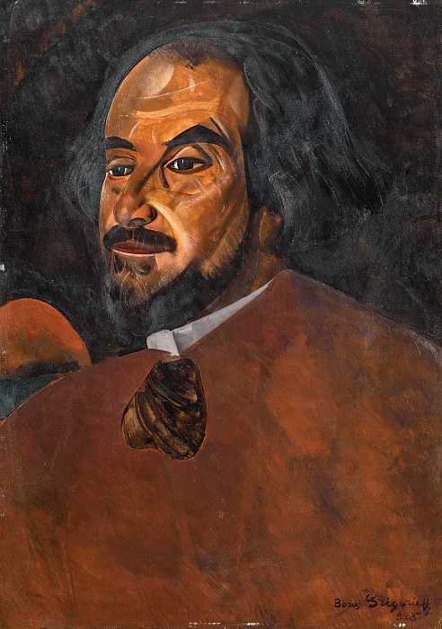 Portrait of a Man, Said to be the Actor Nikolai Aleksandrov. Boris Grigoriev