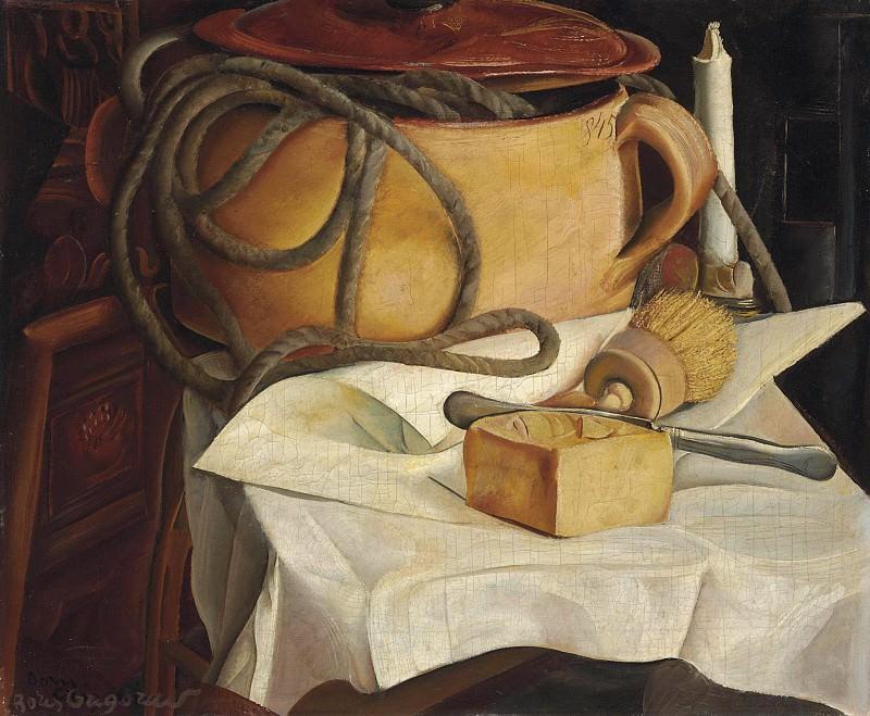 Still life with candle. Boris Grigoriev
