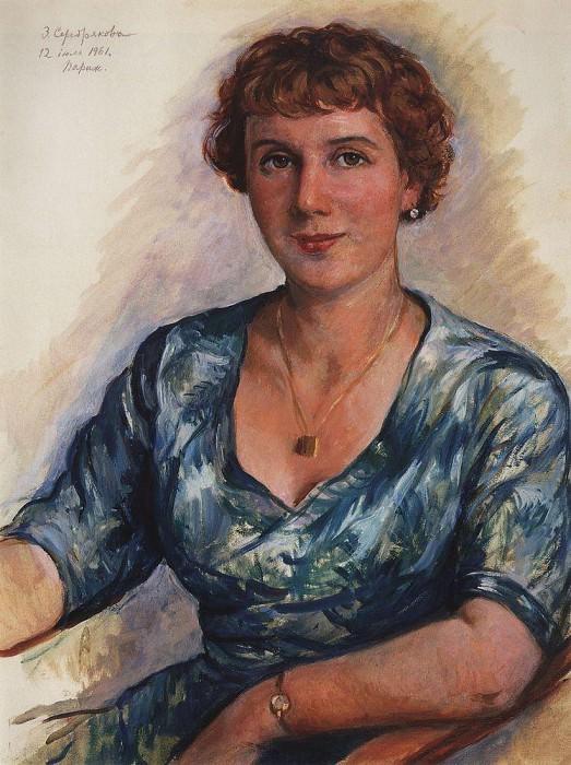 Портрет З. Н. Мартыновской. Зинаида Евгеньевна Серебрякова