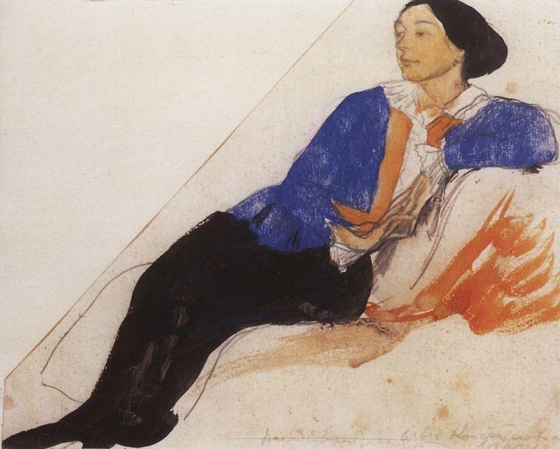 Portrait of O. K. Lansere. Zinaida Serebryakova
