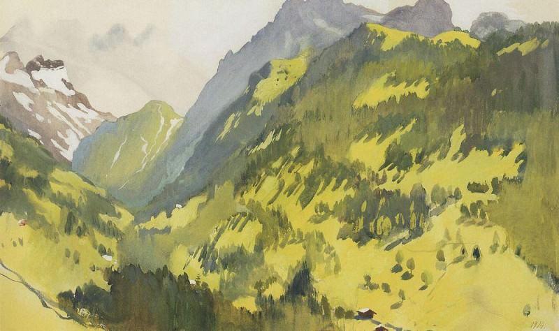 In the mountains Switzerland. Zinaida Serebryakova