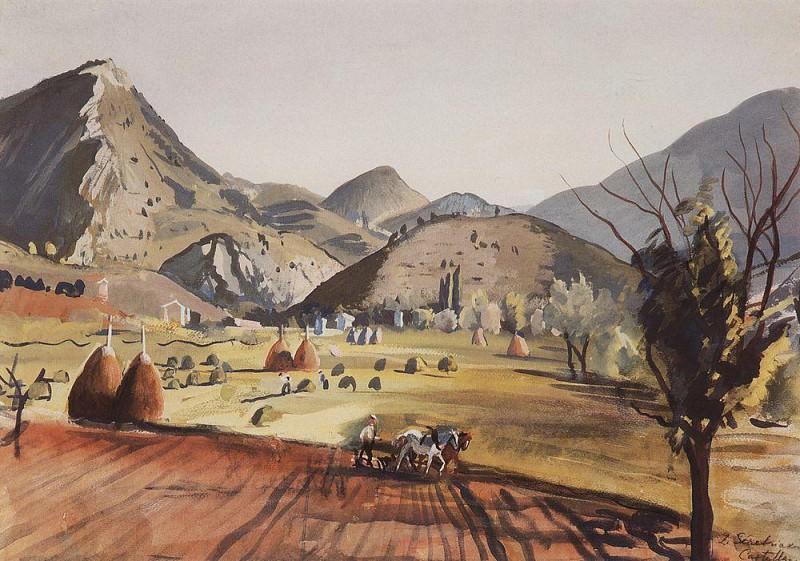 Castellane. The Valley. Zinaida Serebryakova