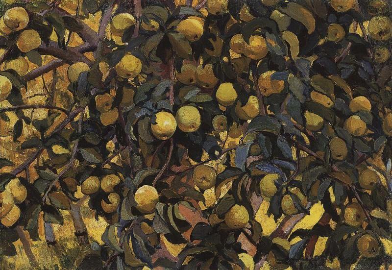 Apples on branches. Zinaida Serebryakova