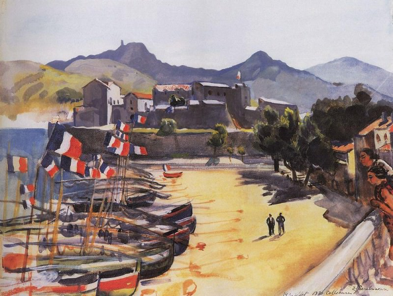Port of Collioure. Zinaida Serebryakova