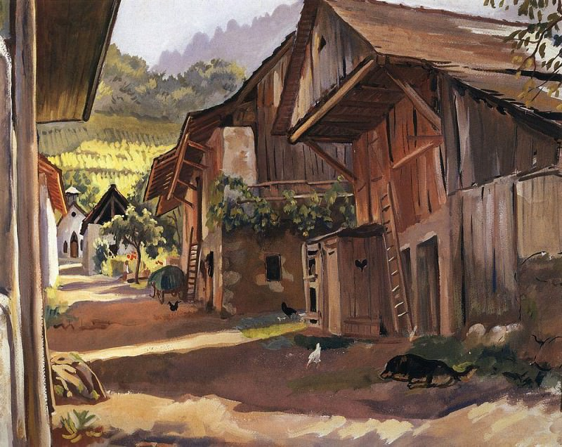 Alps The village in the Savoie. Zinaida Serebryakova