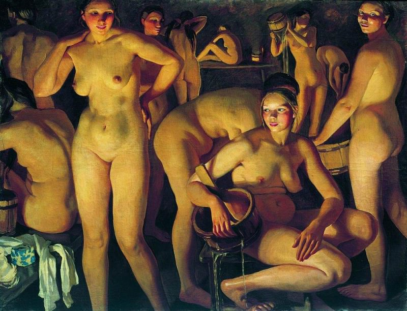 Bathhouse. Zinaida Serebryakova