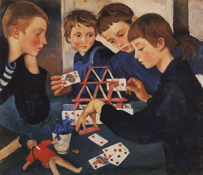 The house of cards. Zinaida Serebryakova