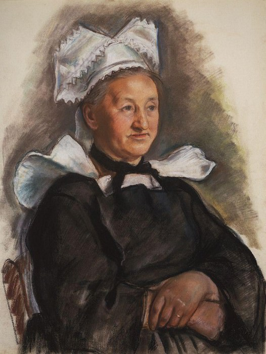 An old woman in a bonnet. Brittany. Zinaida Serebryakova