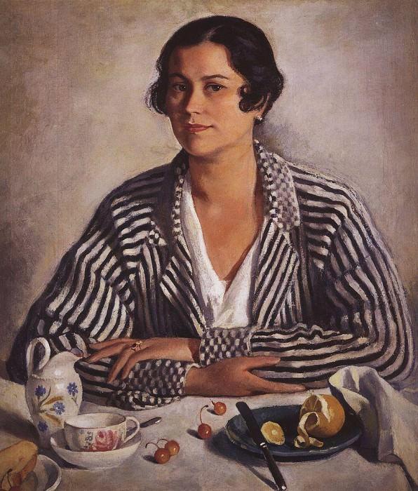 Portrait of M. A. Troynitskaya. Zinaida Serebryakova
