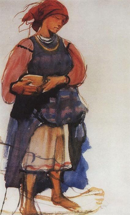The peasant woman. Zinaida Serebryakova