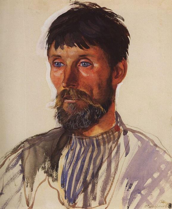 Портрет крестьянина И. Д. Голубева. Зинаида Евгеньевна Серебрякова