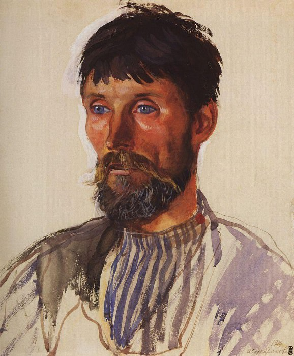 Portrait of a peasant I. D. Golubev. Zinaida Serebryakova