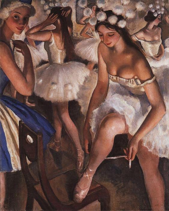 Ballet restroom Snowflakes. Zinaida Serebryakova