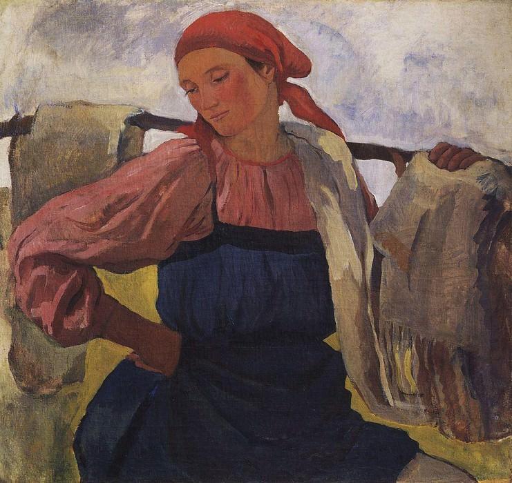 The peasant woman with a yoke. Zinaida Serebryakova