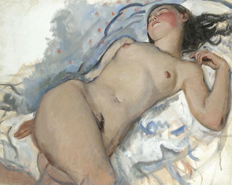 Lying Nude. Zinaida Serebryakova