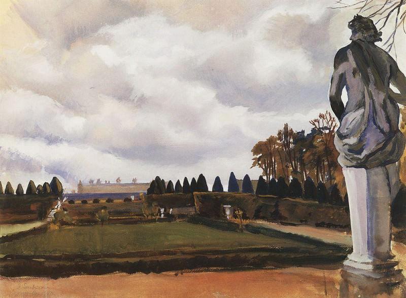 Versailles Park in autumn. Zinaida Serebryakova