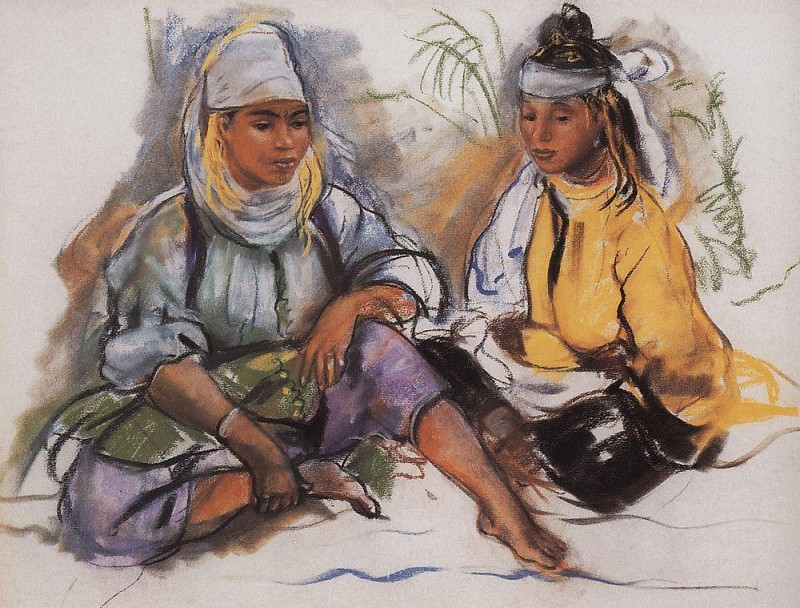 Two Moroccan women. Zinaida Serebryakova