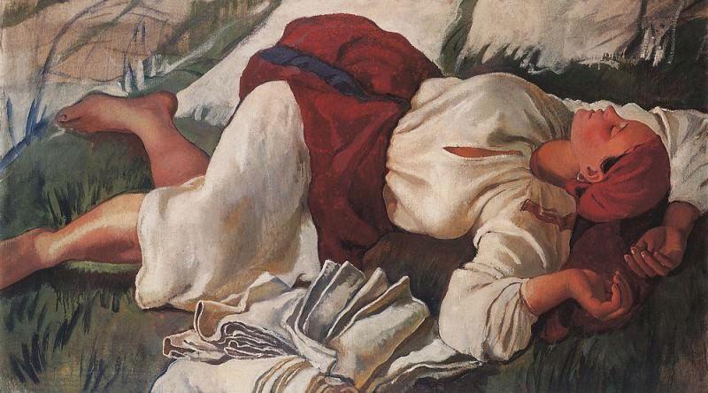 Sleeping peasant woman. Zinaida Serebryakova