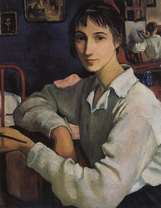 Автопортрет в белой кофточке. Зинаида Евгеньевна Серебрякова